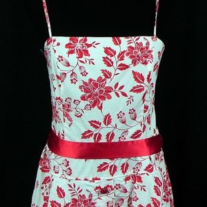 City Triangles Dresses - Red Floral Dress with Crinoline